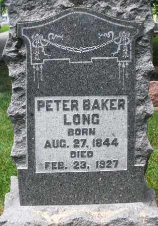 LONG, PETER BAKER - Montgomery County, Ohio | PETER BAKER LONG - Ohio Gravestone Photos