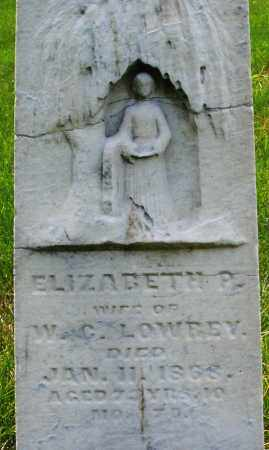 LOWREY, ELIZABETH P. - Montgomery County, Ohio | ELIZABETH P. LOWREY - Ohio Gravestone Photos