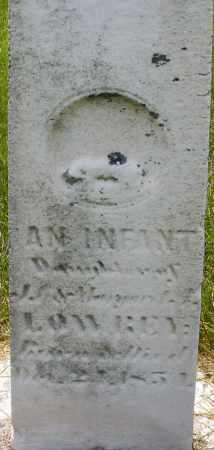 LOWREY, INFANT DAUGHTER - Montgomery County, Ohio | INFANT DAUGHTER LOWREY - Ohio Gravestone Photos