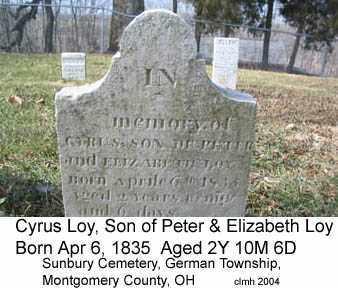 LOY, CYRUS - Montgomery County, Ohio | CYRUS LOY - Ohio Gravestone Photos