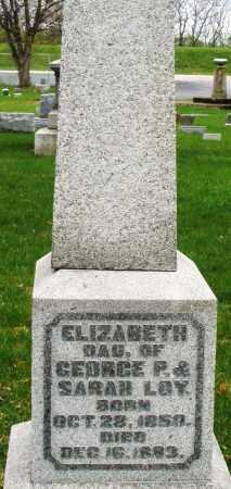 LOY, ELIZABETH - Montgomery County, Ohio | ELIZABETH LOY - Ohio Gravestone Photos