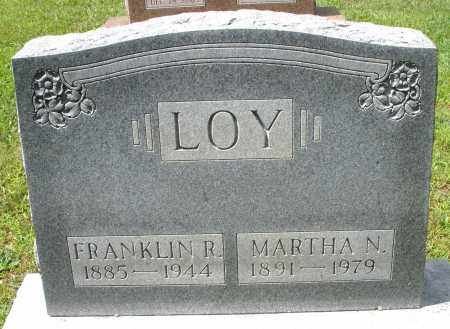 LOY, FRANKLIN R. - Montgomery County, Ohio | FRANKLIN R. LOY - Ohio Gravestone Photos