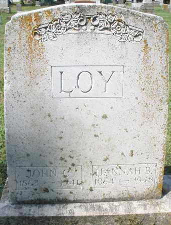 LOY, HANNAH B. - Montgomery County, Ohio | HANNAH B. LOY - Ohio Gravestone Photos