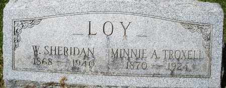 LOY, W. SHERIDAN - Montgomery County, Ohio | W. SHERIDAN LOY - Ohio Gravestone Photos
