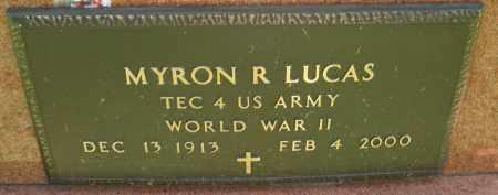LUCAS, MYRON R. - Montgomery County, Ohio | MYRON R. LUCAS - Ohio Gravestone Photos