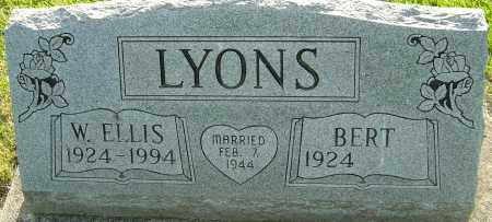 LYONS, W ELLIS - Montgomery County, Ohio | W ELLIS LYONS - Ohio Gravestone Photos
