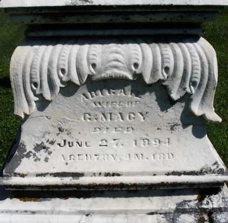 MACY, ABIGAIL - Montgomery County, Ohio | ABIGAIL MACY - Ohio Gravestone Photos