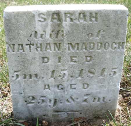 MADDOCK, SARAH - Montgomery County, Ohio | SARAH MADDOCK - Ohio Gravestone Photos