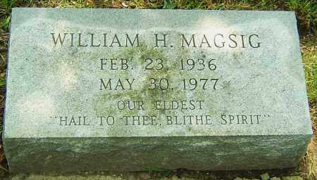 MAGSIG, WILLIAM H - Montgomery County, Ohio | WILLIAM H MAGSIG - Ohio Gravestone Photos