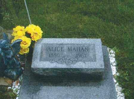 MAHAN, ALICE - Montgomery County, Ohio | ALICE MAHAN - Ohio Gravestone Photos