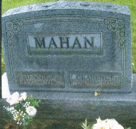 MAHAN, JENNIE FRANCES - Montgomery County, Ohio | JENNIE FRANCES MAHAN - Ohio Gravestone Photos