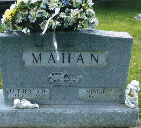 MAHAN, MINNIE ELIZABETH - Montgomery County, Ohio | MINNIE ELIZABETH MAHAN - Ohio Gravestone Photos