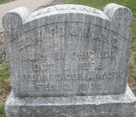MANG, EDWARD J. - Montgomery County, Ohio | EDWARD J. MANG - Ohio Gravestone Photos