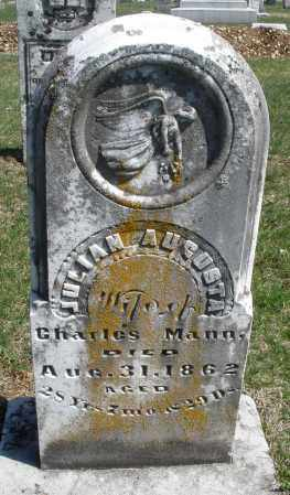 MANN, JULIAN AUGUSTA - Montgomery County, Ohio | JULIAN AUGUSTA MANN - Ohio Gravestone Photos