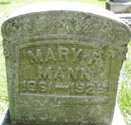 MANN, MARY R. - Montgomery County, Ohio | MARY R. MANN - Ohio Gravestone Photos