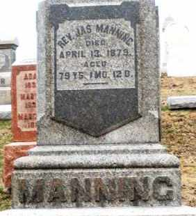 MANNING, JAMES - Montgomery County, Ohio | JAMES MANNING - Ohio Gravestone Photos