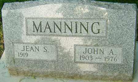 MANNING, JOHN A - Montgomery County, Ohio   JOHN A MANNING - Ohio Gravestone Photos