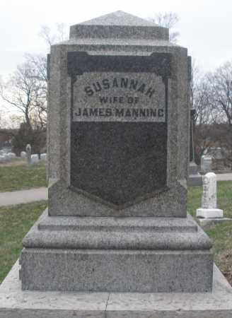 MANNING, SUSANNAH - Montgomery County, Ohio | SUSANNAH MANNING - Ohio Gravestone Photos