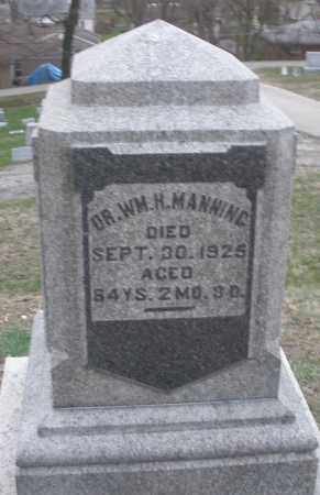 MANNING, WILLIAM H. - Montgomery County, Ohio | WILLIAM H. MANNING - Ohio Gravestone Photos
