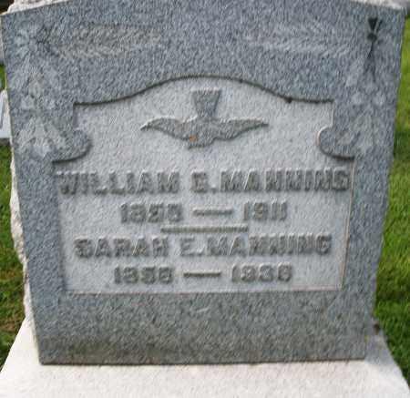 MANNING, SARAH E. - Montgomery County, Ohio | SARAH E. MANNING - Ohio Gravestone Photos