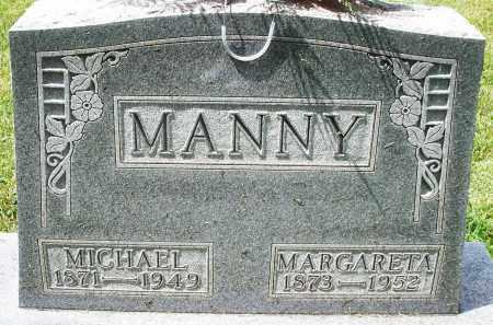 MANNY, MICHAEL - Montgomery County, Ohio | MICHAEL MANNY - Ohio Gravestone Photos