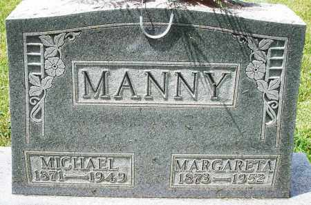 MANNY, MARGARETA - Montgomery County, Ohio | MARGARETA MANNY - Ohio Gravestone Photos
