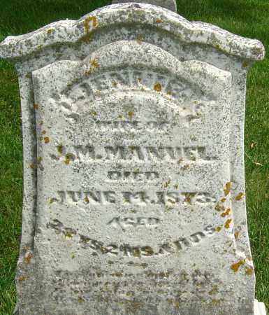 MANUEL, JENNIE - Montgomery County, Ohio | JENNIE MANUEL - Ohio Gravestone Photos