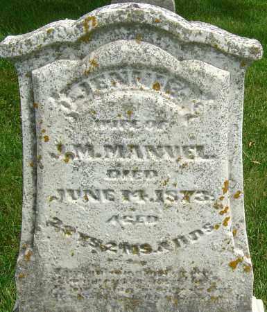MANUEL, JENNIE - Montgomery County, Ohio | JENNIE MANUEL - Ohio Gravestone Photos