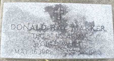 MARKER, DONALD RAY - Montgomery County, Ohio | DONALD RAY MARKER - Ohio Gravestone Photos