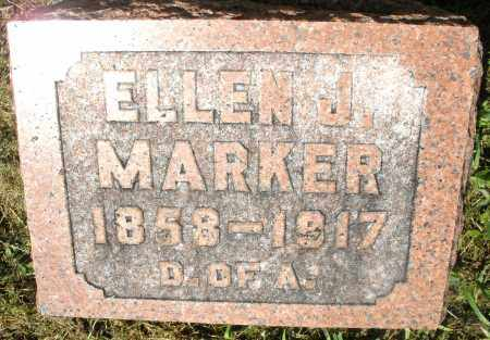 MARKER, ELLEN J. - Montgomery County, Ohio | ELLEN J. MARKER - Ohio Gravestone Photos