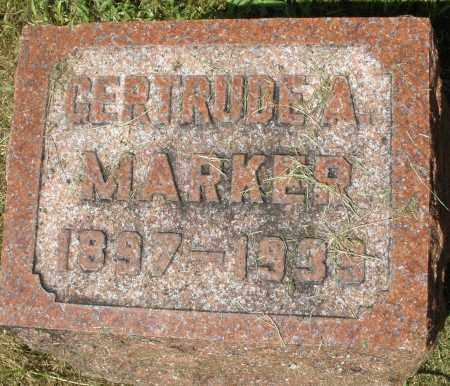MARKER, GERTRUDE A. - Montgomery County, Ohio | GERTRUDE A. MARKER - Ohio Gravestone Photos