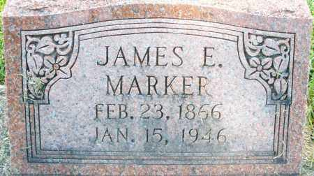 MARKER, JAMES E. - Montgomery County, Ohio | JAMES E. MARKER - Ohio Gravestone Photos