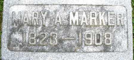 MARKER, MARY A. - Montgomery County, Ohio | MARY A. MARKER - Ohio Gravestone Photos