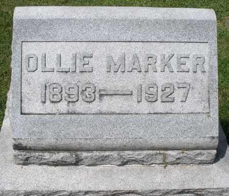 MARKER, OLLIE - Montgomery County, Ohio | OLLIE MARKER - Ohio Gravestone Photos