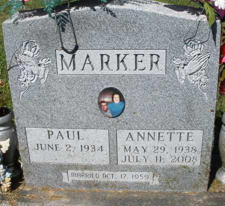 MARKER, ANNETTE - Montgomery County, Ohio | ANNETTE MARKER - Ohio Gravestone Photos