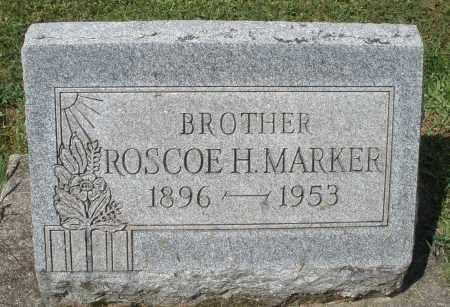 MARKER, ROSCOE H. - Montgomery County, Ohio | ROSCOE H. MARKER - Ohio Gravestone Photos