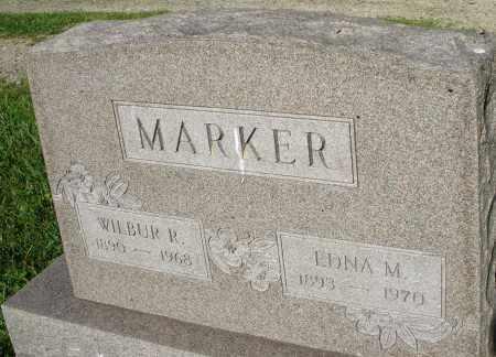 MARKER, EDNA M. - Montgomery County, Ohio | EDNA M. MARKER - Ohio Gravestone Photos