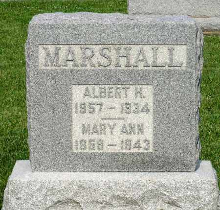 MARSHALL, MARY ANN - Montgomery County, Ohio | MARY ANN MARSHALL - Ohio Gravestone Photos