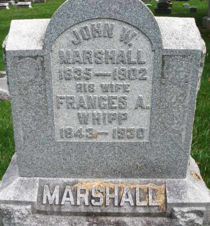 WHIPP MARSHALL, FRANCES A. - Montgomery County, Ohio | FRANCES A. WHIPP MARSHALL - Ohio Gravestone Photos