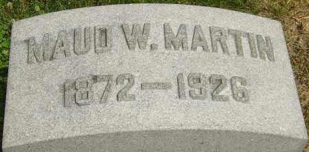 MARTIN, MAUD W - Montgomery County, Ohio | MAUD W MARTIN - Ohio Gravestone Photos