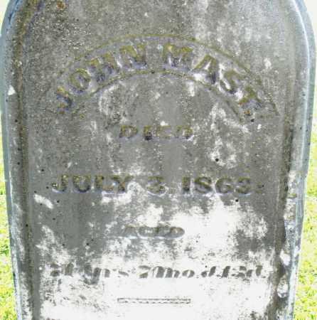 MAST, JOHN - Montgomery County, Ohio | JOHN MAST - Ohio Gravestone Photos