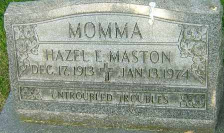 MASTON, HAZEL E - Montgomery County, Ohio | HAZEL E MASTON - Ohio Gravestone Photos