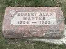 MATTER, ROBERT ALAN - Montgomery County, Ohio | ROBERT ALAN MATTER - Ohio Gravestone Photos