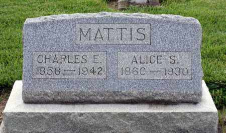 MATTIS, CHARLES E. - Montgomery County, Ohio | CHARLES E. MATTIS - Ohio Gravestone Photos