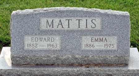 MATTIS, EDWARD - Montgomery County, Ohio | EDWARD MATTIS - Ohio Gravestone Photos