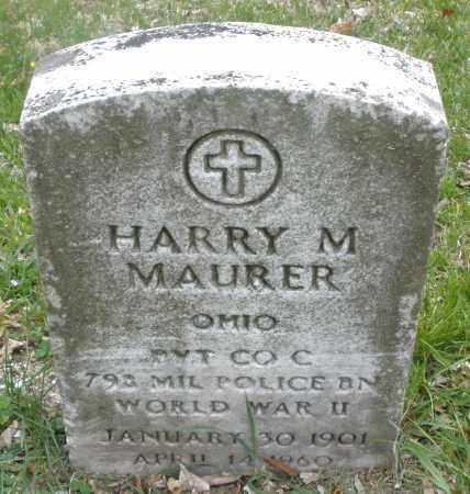 MAURER, HARRY M. - Montgomery County, Ohio | HARRY M. MAURER - Ohio Gravestone Photos