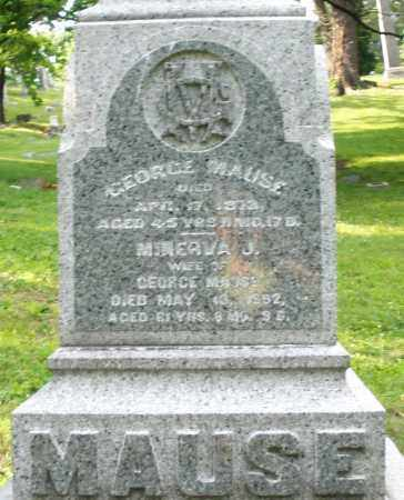 MAUSE, GEORGE - Montgomery County, Ohio | GEORGE MAUSE - Ohio Gravestone Photos