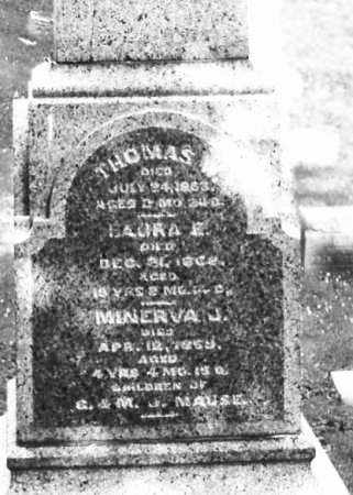 MAUSE, LAURA - Montgomery County, Ohio | LAURA MAUSE - Ohio Gravestone Photos