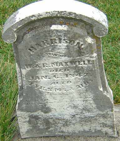 MAXWELL, HARRISON - Montgomery County, Ohio | HARRISON MAXWELL - Ohio Gravestone Photos