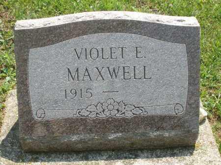 MAXWELL, VIOLET E. - Montgomery County, Ohio | VIOLET E. MAXWELL - Ohio Gravestone Photos